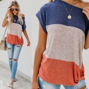 Vici Jaxon Colorblock Twist Top